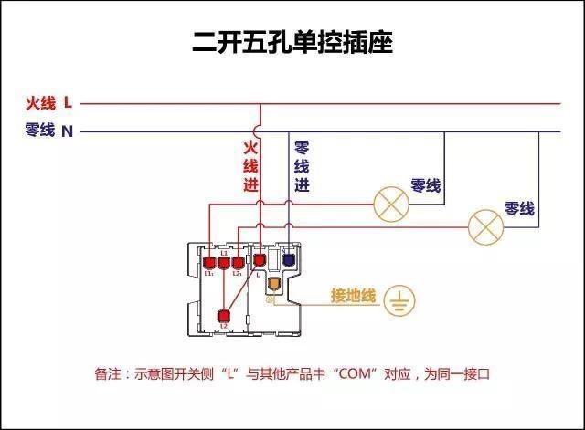 带灯开关的插座接线图